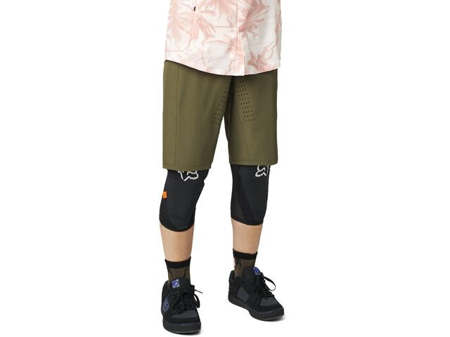 Fox Flexair Lite No Liner Shorts Women, olive green